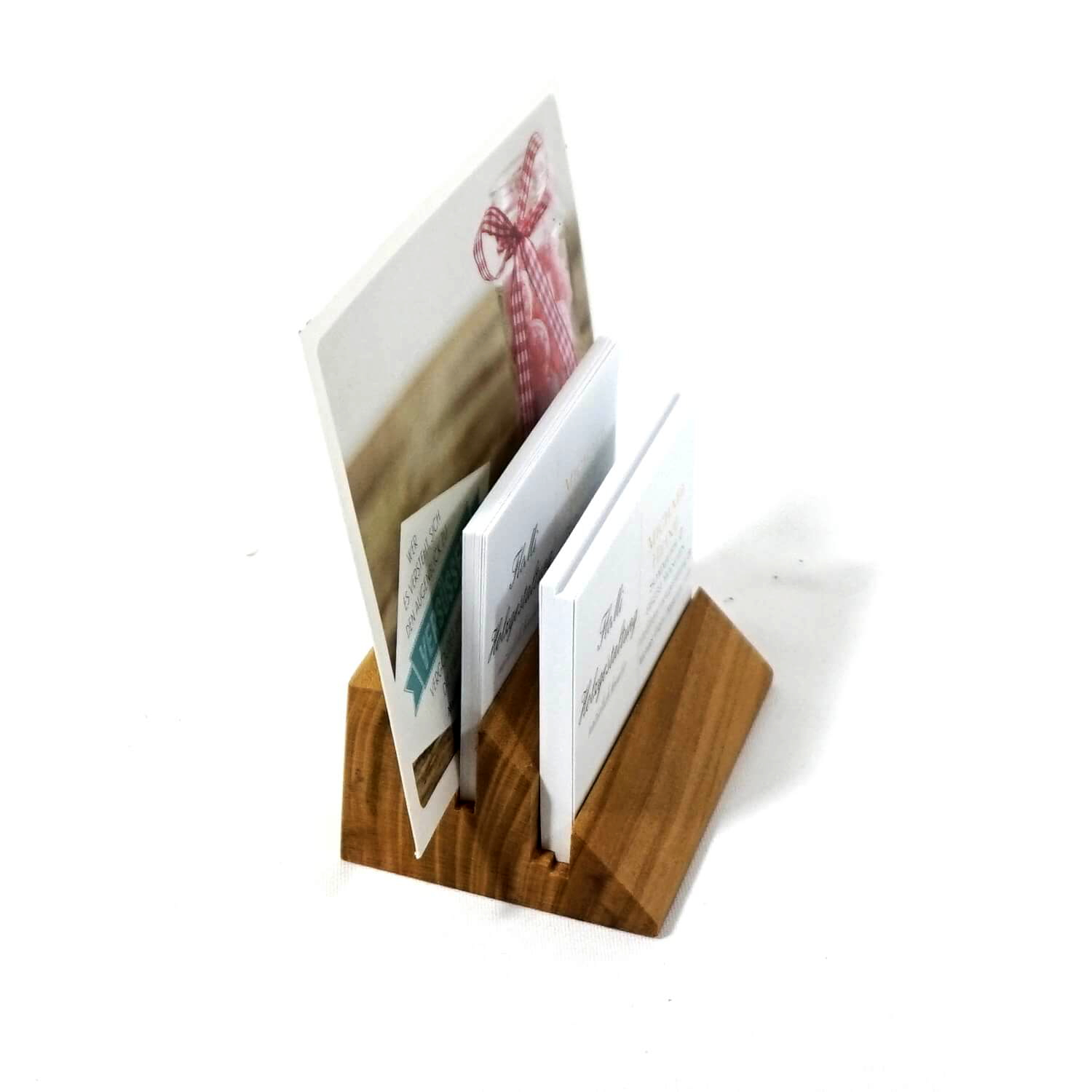 Holzpuristen Cherry Wood Card Holder Cardholder Real Wood